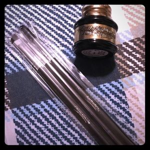 Other - Black liquid eyeliner and brushes